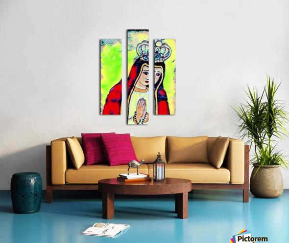 saint abstract Canvas print
