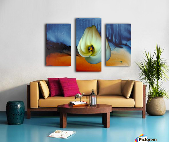 Alcohol Ink and Lily I Canvas print