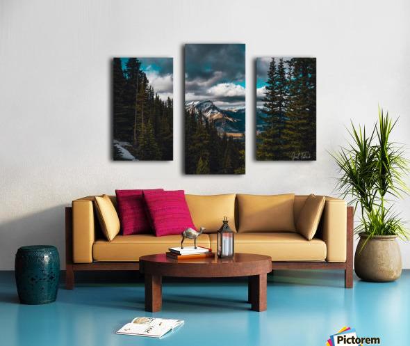 Cascade Mountain Through The Trees Canvas print