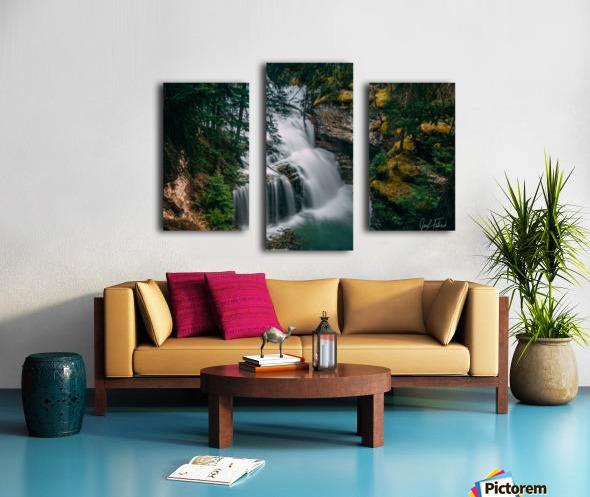 Johnson Canyon Trail Falls Long Exposure Canvas print