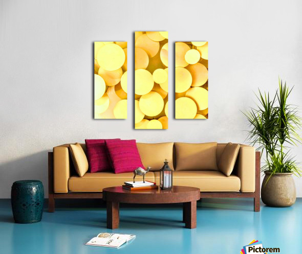 yellow circles Canvas print