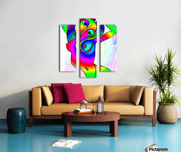 el camino rainbow Canvas print
