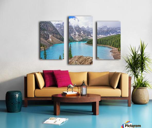 Moraine Lake in Banff National Park BC Canvas print