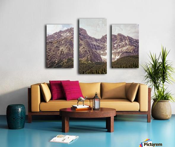 Cascade Mountain in Banff National Park BC Canvas print