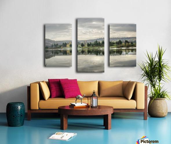 Autumn Lake Reflections Canvas print