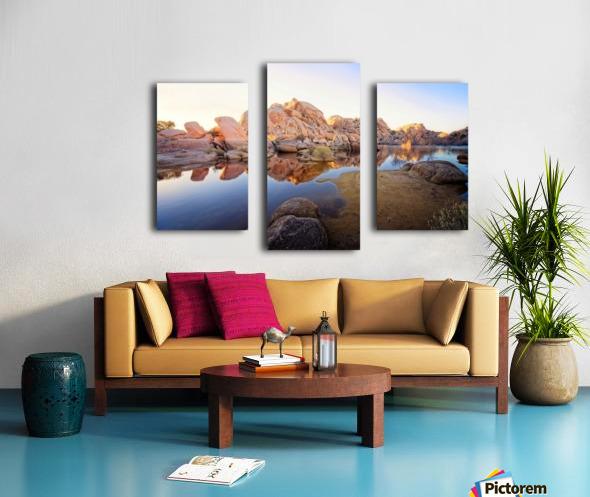 Barker Dam at Sunset Canvas print