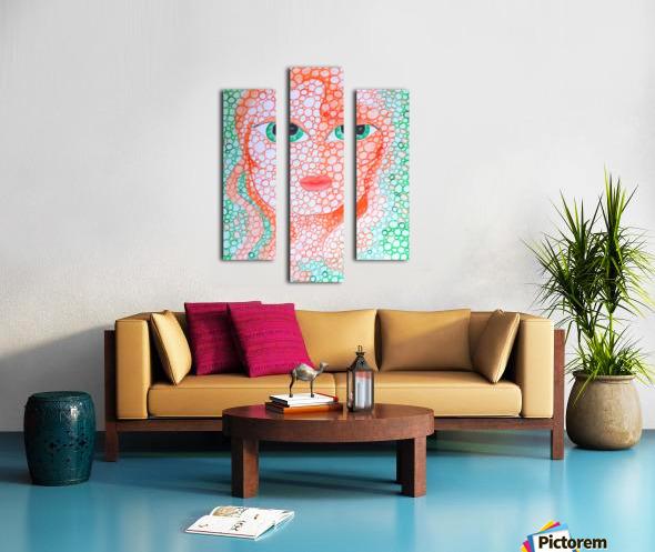 Girl and Circles Canvas print