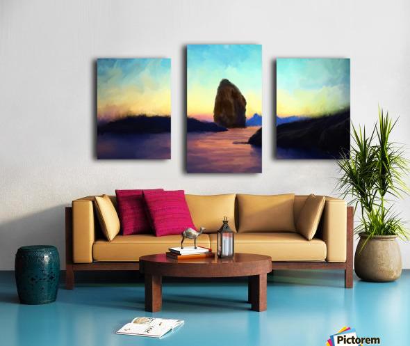 Oniric River Canvas print