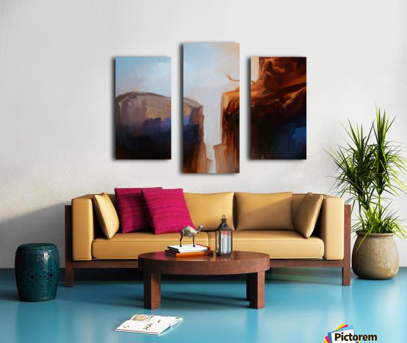 Sharp Cliffs Canvas print