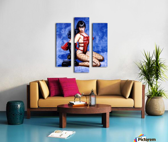 Bettie Page  Canvas print