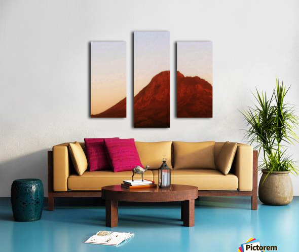 Red mountain side Canvas print
