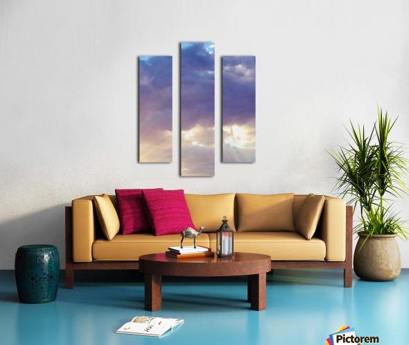 Beautiful cumullus Canvas print