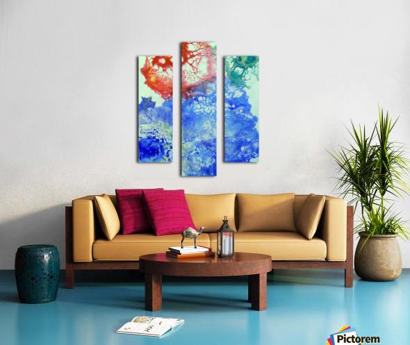 Game color Canvas print