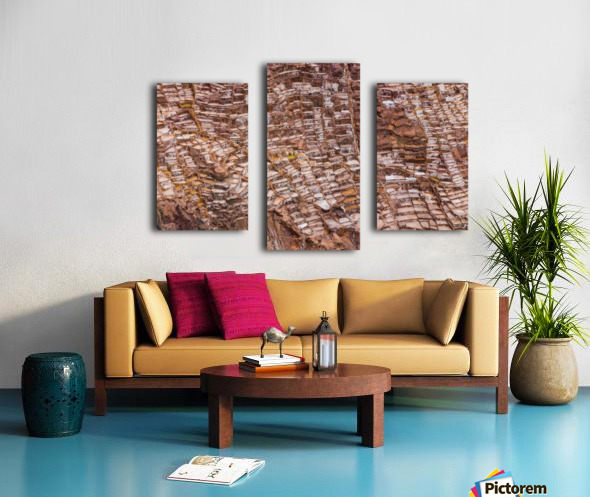 Maras Salt Mines Canvas print