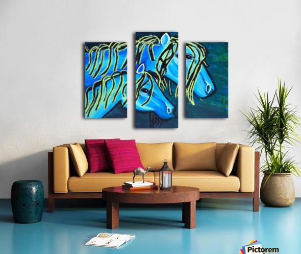 Blue Horse. Glenn N Canvas print