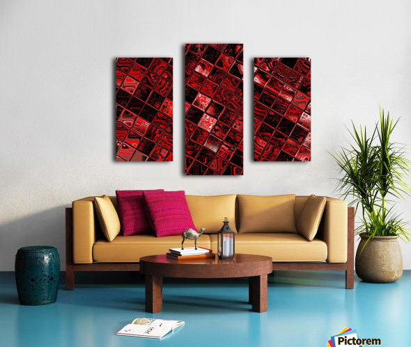 Red Glass Tiles 3 Canvas print