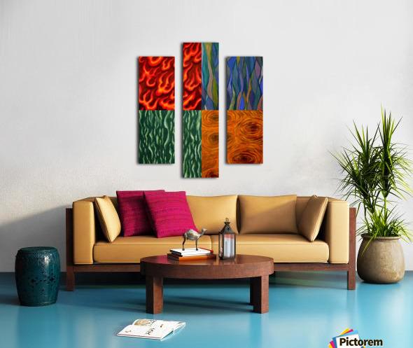 4 elements A Canvas print