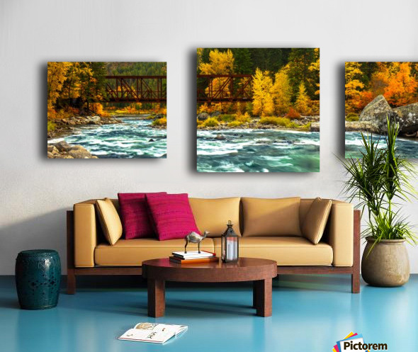 Emerald Flow Pano Canvas print