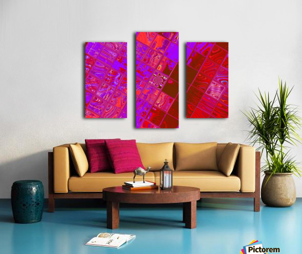 Red Psychedelic Squares 1 Canvas print
