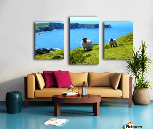 Home with a View Canvas print