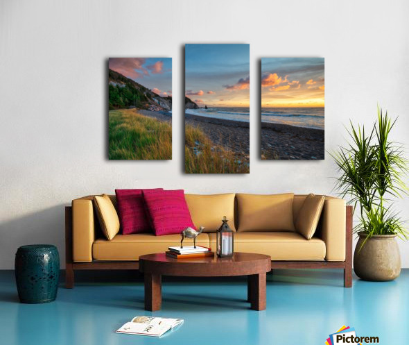 Sunset Relief Canvas print