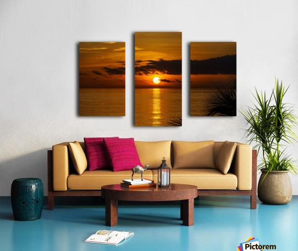 Sunrise at Cayman Kai Canvas print