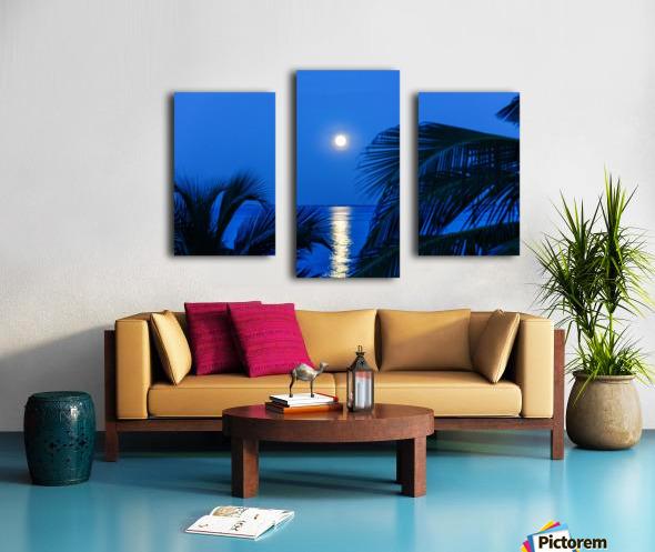 Moon rise at Cayman Kai Canvas print
