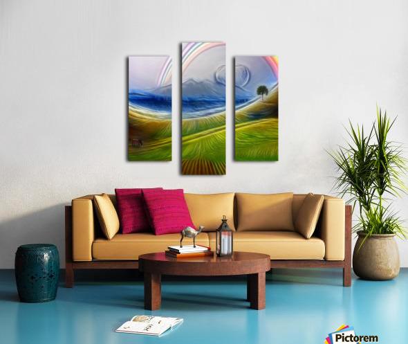 Painterly Peaceful Landscape Canvas print