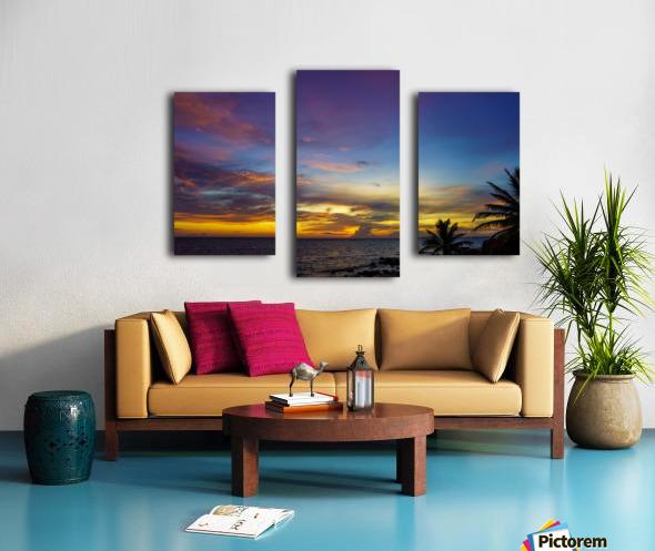 Colorful Caribbean Sky at Grand Cayman Canvas print