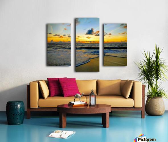 Eleuthera suds and sand Canvas print