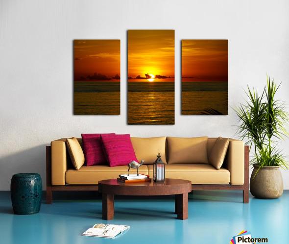 Sun rising on the Caribbean Canvas print