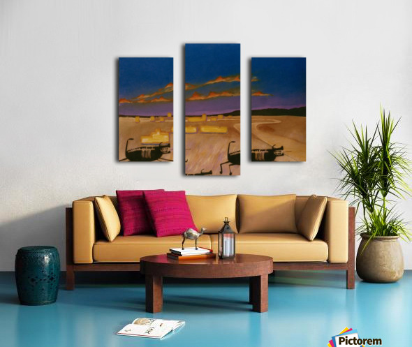 Ridgecrest Dog Canvas print
