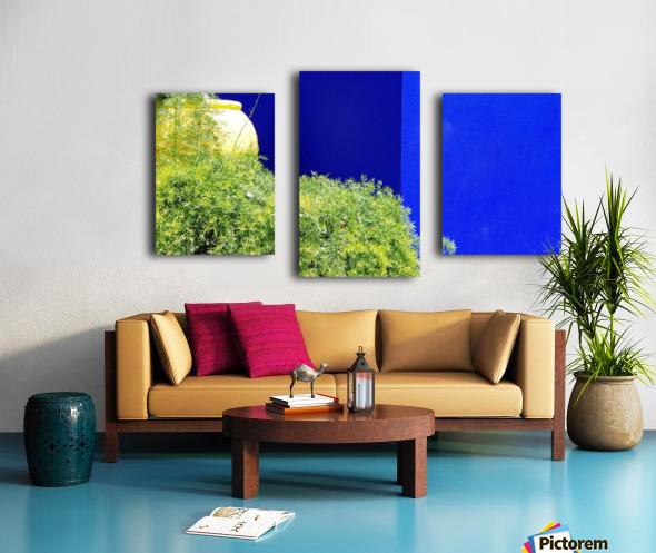 Marrakech on Blue Majorelle Canvas print