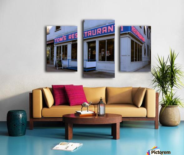 Toms Restaurant Canvas print