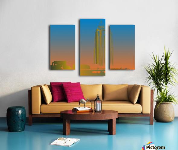Abstract Skyscraper 1 Canvas print