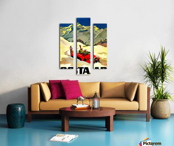 Vintage Travel - Gstaad Canvas print