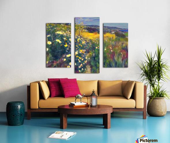 Spring daisies Canvas print