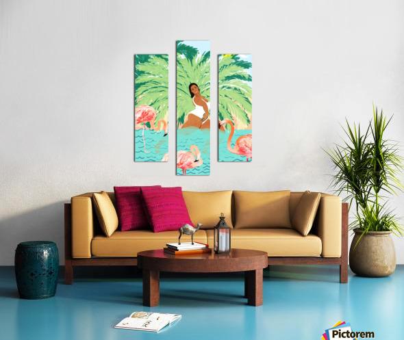 Water Yoga Canvas print
