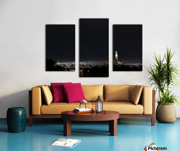 Winnipeg Skyline Storm Canvas print