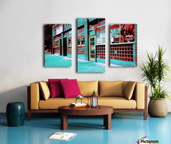 Atlanta Street Scene -- Turquoise Canvas print