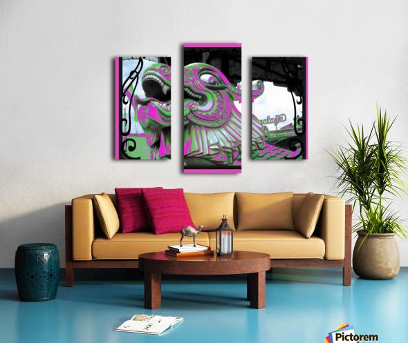 Carnival Creature in Purple & Green Canvas print