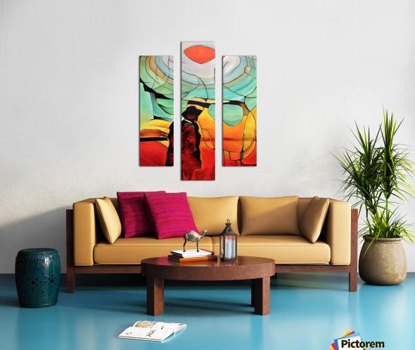 Sun Rings Canvas print