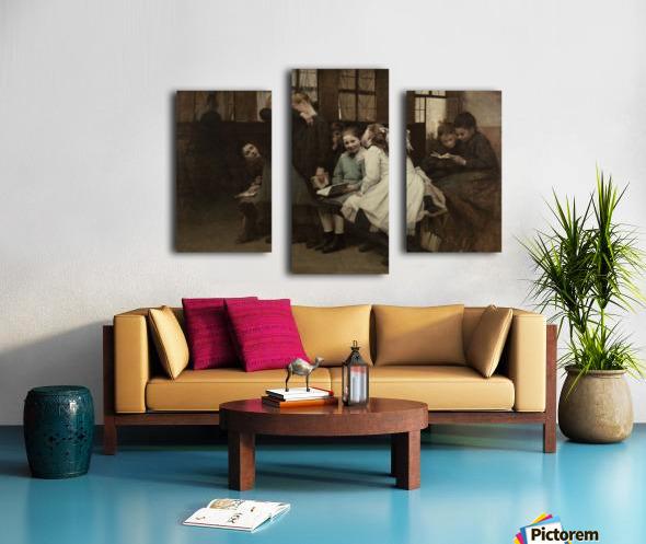 En retenue Canvas print