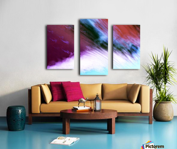 Water fall abstraction Canvas print