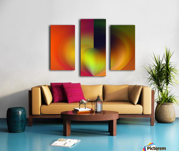 Heart Abstraction Canvas print