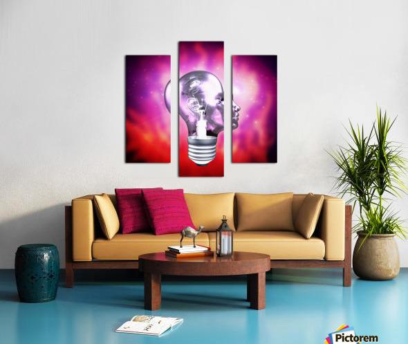 Human Light Bulb Head Canvas print