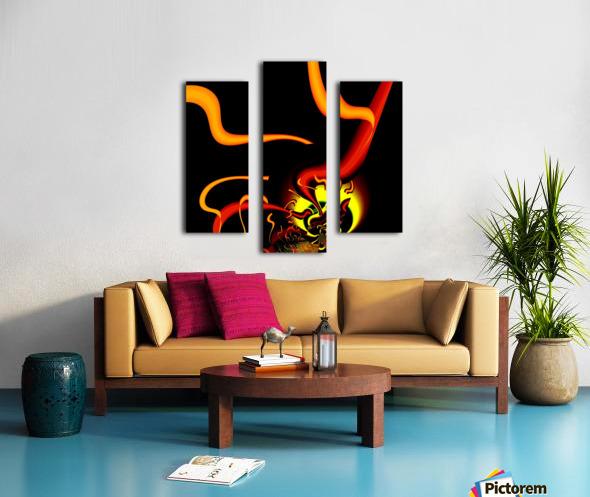 Lightening_Nude Canvas print