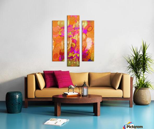 Pink and orange Canvas print