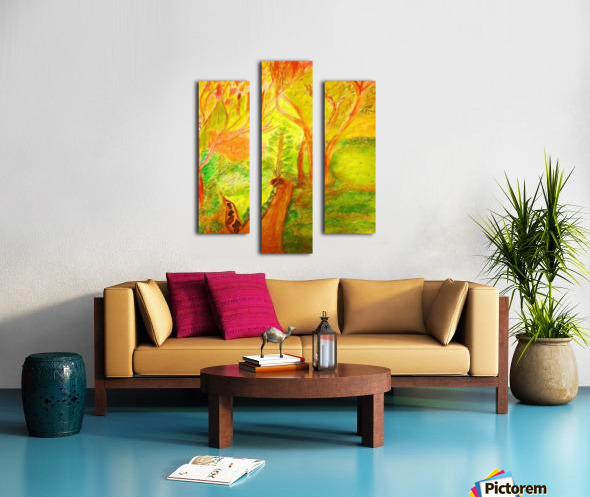 Could it be yellower  Canvas print
