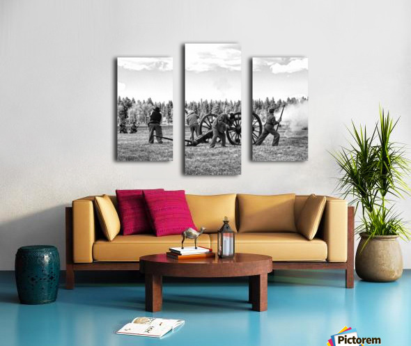 U. S. Civil War Re-enactment Canvas print